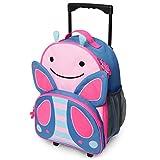 Skip Hop Zoo Luggage, trolley da viaggio per bambini, con targhetta identificativa, multicolore, farfalla Blossom