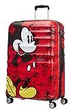 American Tourister Wavebreaker Bagaglio a Mano Disney, Spinner L (77 cm - 96 L), Rosso (Mickey Comics Red)