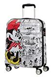American Tourister Wavebreaker Bagaglio a Mano Disney, Comics Spinner S, Spinner S (55 cm - 36 L),Bianco (Minnie Comics White)