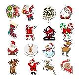 cyk Adesivo Regalo Babbo Natale Pupazzo di Neve per Bambini Adesivo Valigia per Bagagli 50 °