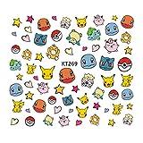 YZFCL Pokemon Pikachu Mario Bambini Cartoon Nails Adesivi Giapponese Carino Anime Figura Accessori Decalcomanie Decorazione Giocattoli fai da te