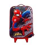 Spiderman Wall-Valigia Trolley Soft 3D, Multicolore