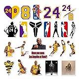 Ebay NBA Basketball Lakers No.24 Kobe Bryant Black Mamba Kobe Sticker 24PCS