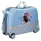 Disney Spirits of Nature Frozen 2 Valigia per bambini Azzurro 37x55x20 cms Rigida ABS Chiusura a combinazione numerica 38L 2,1Kgs 4 Ruote Bagaglio a mano