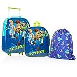 Disney Toy Story 4 Forky, Bo Peep, Woody, Buzz Personaggi Su Questo Set Di Valigie Trolley, Zaino E Sacca Palestra, 3 Pezzi Bagagli Per Bambini, Set Di Accessori Da Viaggio