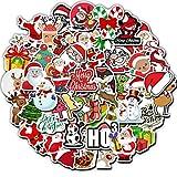 GYYNR Adesivi100PCSAdesivo Regalo di Natale Pupazzo di Neve per Bambini Adesivo per Valigia Skateboard