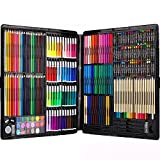 Ccfoud 258 Piece Creativity Art Set for Kids Disegno e Pittura (Acquerello, pastelli, pennarelli Colorati, matite Colorate)