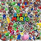 BLOUR 50 pz/Pacco PVC Cartoon Super Mario Bambini Adesivi Impermeabili Valigia Chitarra Skateboard Moto Graffiti Sticker Giocattolo per Bambini