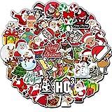 HUNSHA Adesivo Regalo di Babbo Natale Pupazzo di Neve Pupazzo di Neve Regalo Bambino Pattino Valigia Bagaglio Adesivo 50 Pezzi