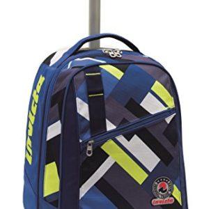 Invicta School 206001635-585 Trolley Zaino, Spallacci a Scomparsa, 35, litri, Poliestere, Blu