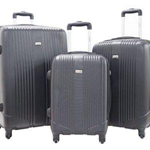 Set di 3 Valigie – Valigia ALISTAIR Airo – ABS Ultra Light – 4 ruote – Nero