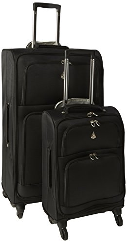 Aerolite The London Collection Set di valigie Aerol9975 21/29 Black, 75 cm, 105 L, Nero