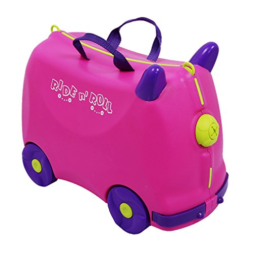 COO Group 3-in-1 valigetta rigida custodia blu bambino Inverti cagnolino con 4 PVS ruote, con tracolla, dall'anno 2-9 anni [etikettenstar & certificazione EN71], rosso (Rosso) – FBAW001#TRTC108R