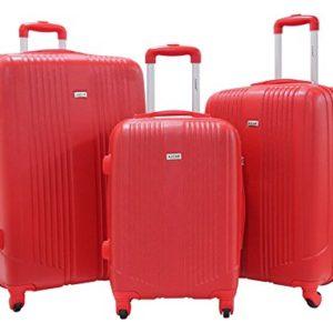 Set di 3 Valigie – Valigia ALISTAIR Airo – ABS Ultra Light – 4 ruote – Rosso