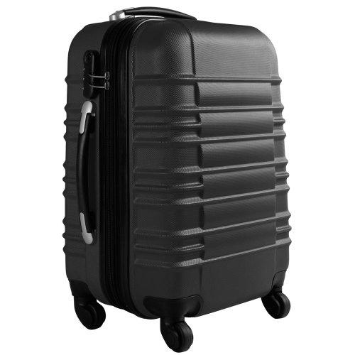 Vojagor Trolley valigia set valigie rigide bagagli da 4 pezzi colore nero