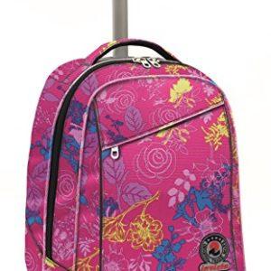 Invicta School 206001659-414 Trolley Zaino, Spallacci a Scomparsa, 35, litri, Poliestere, Rosa