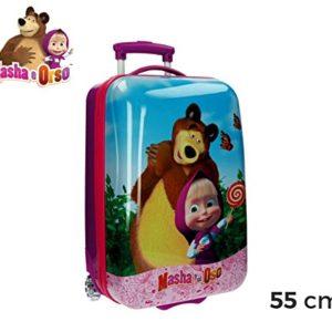 4731251 Trolley bagaglio da cabina in ABS rigido Masha e Orso 55 x 33 x 23 cm. MEDIA WAVE store