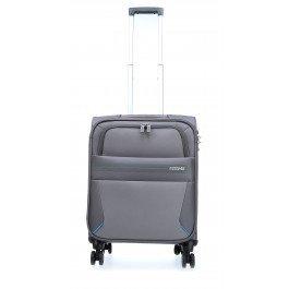 American Tourister Summer Voyager Bagaglio A Mano, 55 cm, 36 litri, Volt Grey