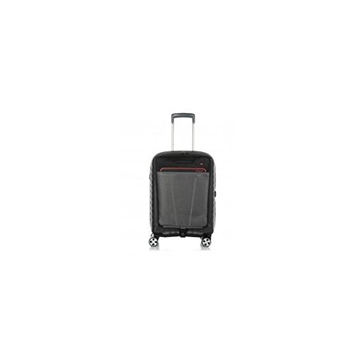 Trolley cabina porta pc Roncato Double 5145 nero/rosso