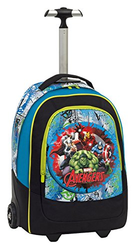 Zaino Trolley Tessuto in poliestere con serigrafie spessorate fluo – Azzurro Marvel Ultimate Spiderman