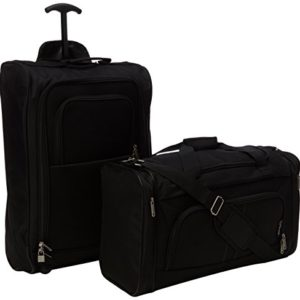 5 Cities The Valencia Collection Set di valigie TB830 / HD602 Black, 55 cm, 42 L, Nero