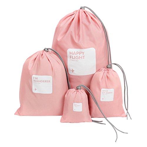 Organizzatore impermeabile da valigia bagagli stoccaggio borse scarpe abiti lavanderia biancheria intima/lingerie/trucco sacchetto borsa Organizzatore per borsa per valigie, Pink (rosa) – Laundry Bag