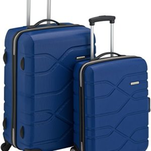 American Tourister Houston City 2 PC Set A da 2 Valigie, 70 cm, Blu