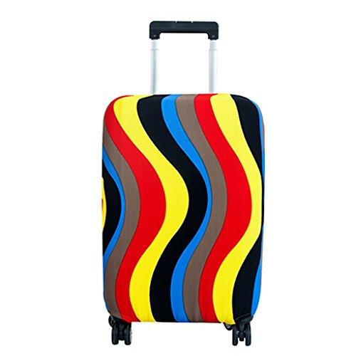 Fvstar copertura copertura per valigie, valigia bagaglio borsa di protezione, antipolvere, lavabile, Ripple (Multicolore) – GCDZ0001-RPM