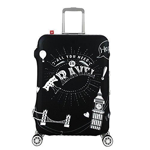 Waterfly elevata elasticità dei bagagli di poliestere spandex custodia trolley valigia copertura protettiva per 20/24/28/81,3cm, Travel Tower (Multicolore) – XT-32-20-UK