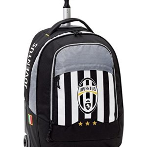 Zaino Trolley Tessuto in poliestere 600D, inserti in tessuto twotone dobby a Bianco/Nero Juventus