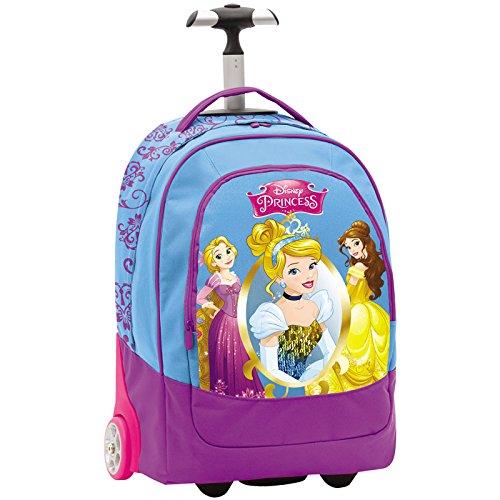 Seven Disney Princess Zaino Trolley con Ruote Azzurro