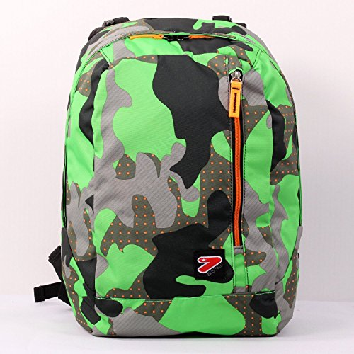 2 in 1 Zaino Reversibile SEVEN THE DOUBLE – COLOR CAMOUFLAGE – Verde – cuffie stereo con grafica abbinata incluse!