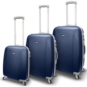 SET 3 TROLLEY 4 RUOTE RONCATO TRIXIE – ABS – ULTRALIGHT (BLU NAVY)