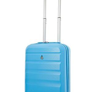 Aerolite ABS Trolley Bagaglio a Mano Valigia Rigida Leggera con 4 Ruote , Approvata per Ryanair , Easyjet , Alitalia , Lufthansa , Swiss e Molte Altre , Blu
