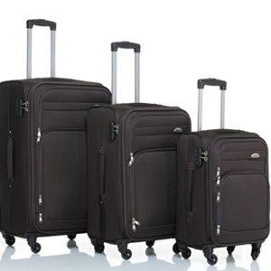 8005di 34ruote valigia bagaglio trolley da viaggio valigia Trolley Set in 5colori BROWN Set