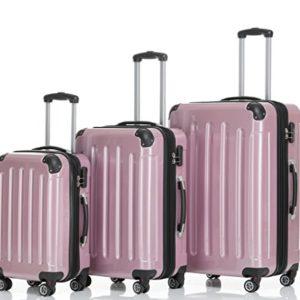 Beibye Trolley da viaggio rigido 2048, con 4 ruote gemellate, misura: M, L, XL, disponibile in 14colori, Rosa (rosa) – 2048