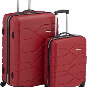American Tourister Houston City 2 PC Set B da 2 Valigie, 75 cm, Rosso