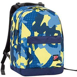 Zaino SEVEN – THE DOUBLE PRO XXL – Camouflage Blue Giallo – 30 LT schienale compatibile con COVER e REVERSIBILE
