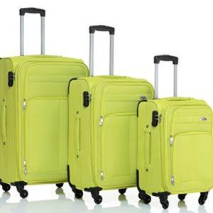 8005di 34ruote valigia bagaglio trolley da viaggio valigia Trolley Set in 5colori GREEN Set