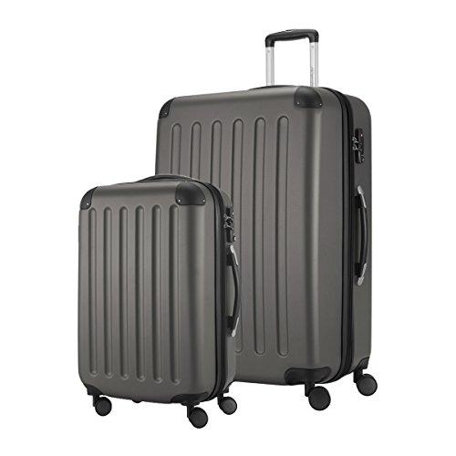 Hauptstadtkoffer Set di valigie, Grigio (Grigio) – HK1203-GPH-49+128