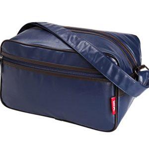 Cabin Max Arezzo, borsone da stipare 20x35x20cm, borsone a tracolla – ottimo come secondo bagaglio per Ryanair (Blu)