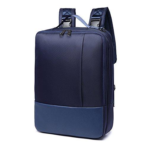 Zaino per Computer Portatile, 3-in-1 Uomo Borsa Tracolla Portadocumenti Daypack, Zainetto Impermeabile per Scuola Lavoro Campeggio Trekking, Blu
