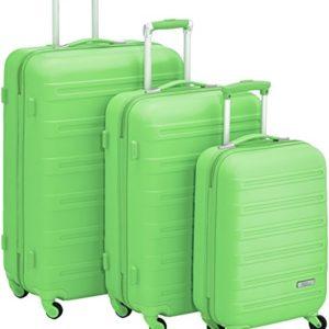Fabrizio Set di valigie 10163-3300-S+M+L Verde 85.0 liters