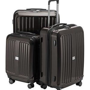 HAUPTSTADTKOFFER – X-Berg – Set di 3 valigie, colore Blu Scuro Grafite brillante, (S, M & L), 258 litri