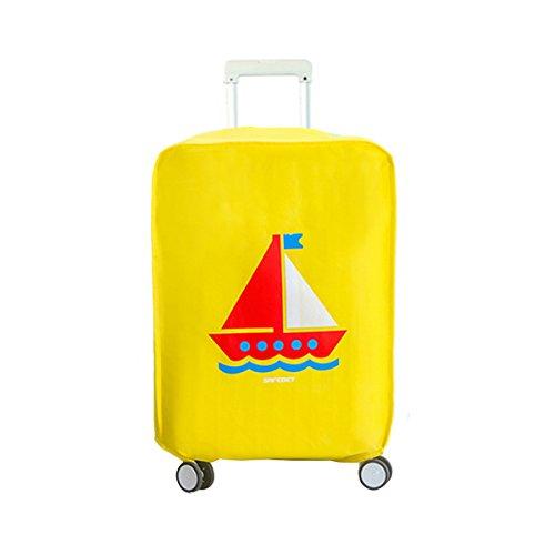 AiSi Cover protettiva per valigia in tessuto non tessuto di alta qualità, protegge dall'usura e dalla polvere, da viaggio, 28 inches (marrone) – fct-05