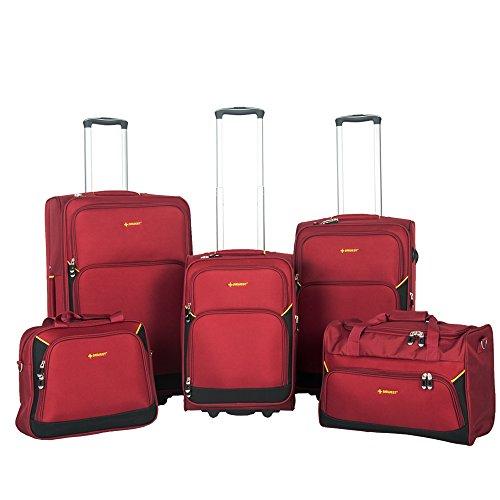NEWEST , Set di valigie  Red&Black 15″18″21″25″29″