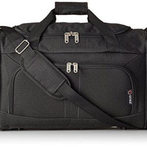 5Cities Cabina Bagaglio a mano leggero Sized Sport Duffel Borsone, nero (Nero) – HOLD602 BLACK