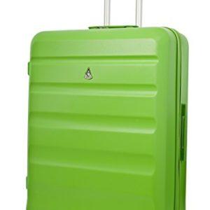Aerolite ABS Trolley Bagaglio da Stiva Valigia Rigida Leggera Grande con 4 Ruote , 79cm , 131L , Verde