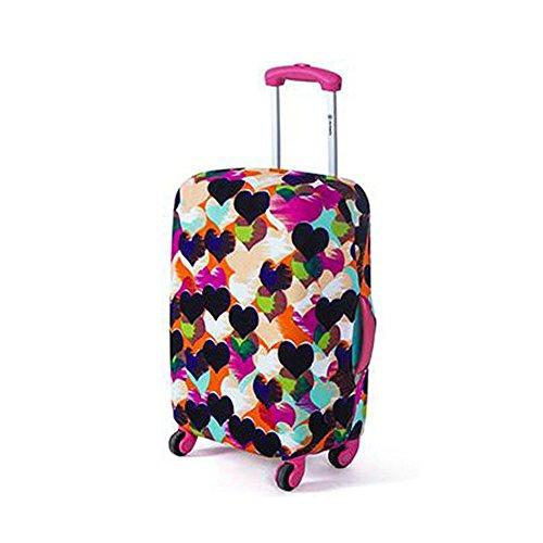 Grande Spandex della calotta di protezione Valigia elastico per 26 – 30 pollici Borse di viaggio. (Multicolore con Cuori)
