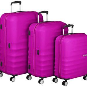 American Tourister Wavebreaker Set di 3 valigie, Rosa